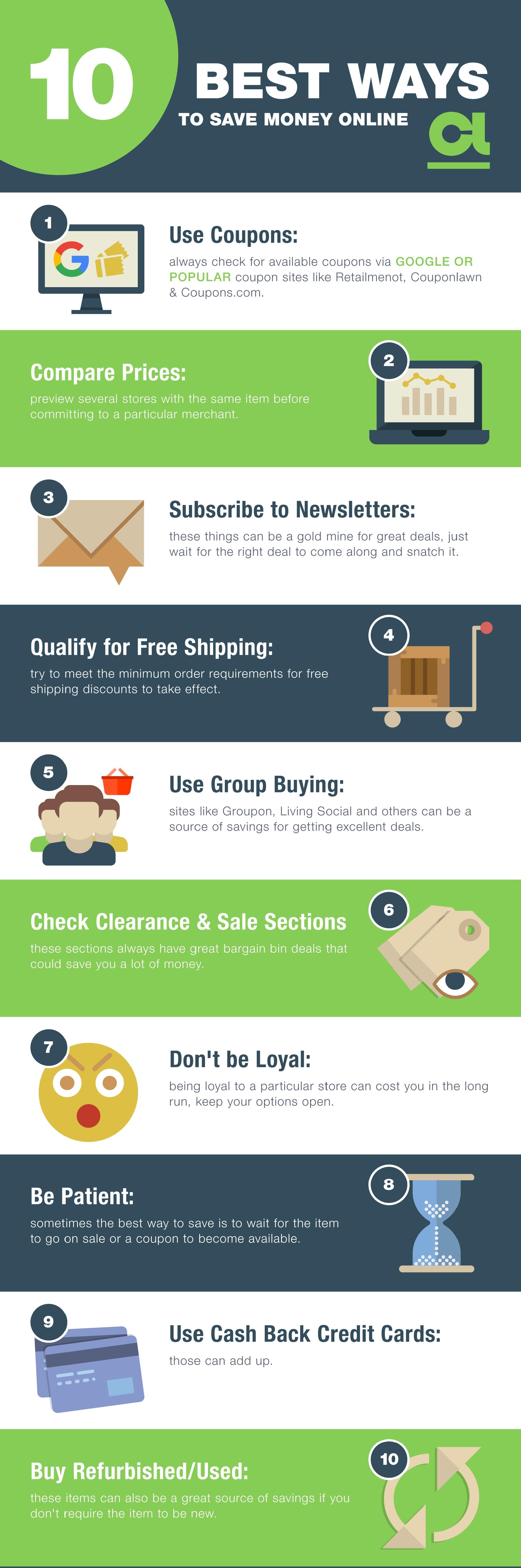 10 ways to save money online