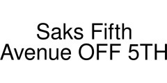 Saks Fifth Avenue OFF 5TH coupon code